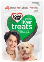 Picture of Love'em Pork Liver Treats - 100g x 6