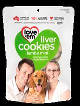 Love'em Liver Cookies Lamb & Mint - 450g