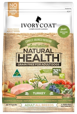 Picture of SHORTER DATED - Turkey Reduced Fat - Grain Free - 4 x 2kg - Ivory Coat - Senior Dog - Dry