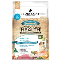 Picture of SHORTER DATED - Ocean Fish & Salmon with Coconut Oil - Grain Free - 4 x 3kg - Ivory Coat - Adult Cat - Dry